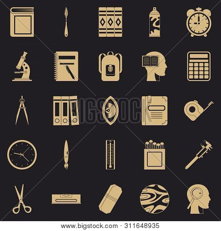 Magistrate Icons Set. Simple Set Of 25 Magistrate Icons For Web For Any Design