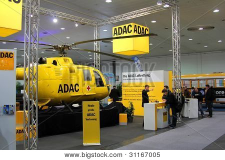 Hannover, Germany - March 10: Stand Of Adac On March 10, 2012 In Cebit Computer Expo, Hannover, Germ