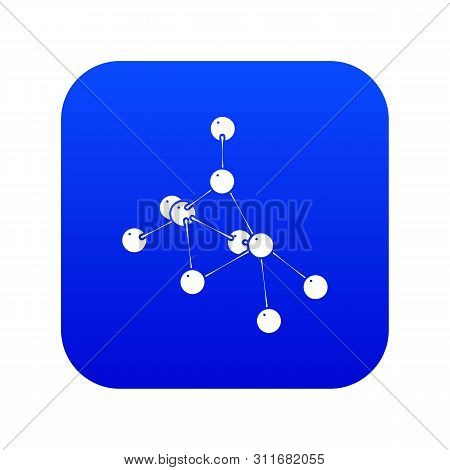 Ethyl Acetate Icon Blue Isolated On White Background