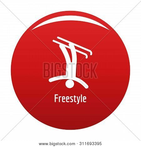 Freestyle Icon. Simple Illustration Of Freestyle Icon For Any Design Red