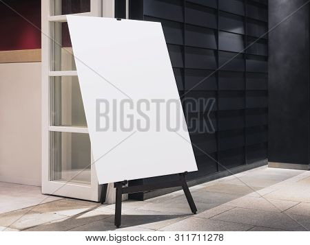 Mock Up Poster Stand Template Shop Front Business Retail