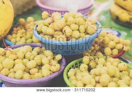 Phyllanthus Acidus (gooseberry Tree) At Market