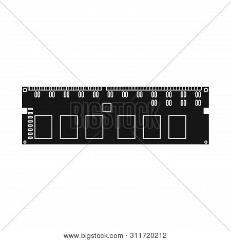 Isolated Object Of Memory And Ram Symbol. Collection Of Memory And Megabytes Stock Vector Illustrati
