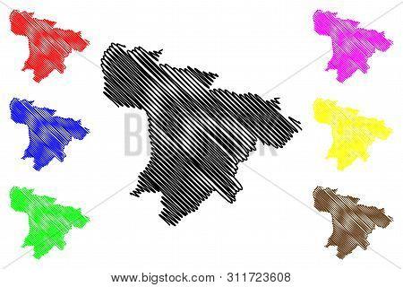 Santo Domingo De Los Tsachilas Province (republic Of Ecuador, Provinces Of Ecuador) Map Vector Illus