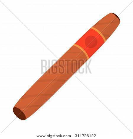 Vector Design Of Cigar And Cuban Icon. Collection Of Cigar And Nicotine Stock Vector Illustration.