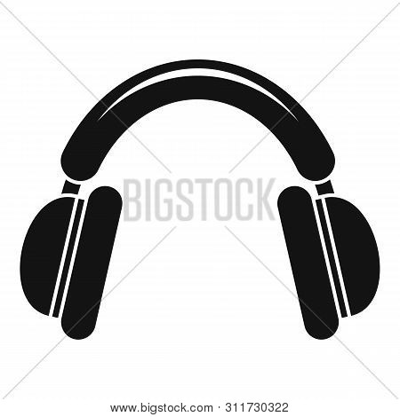 Shooter Headphones Icon. Simple Illustration Of Shooter Headphones Vector Icon For Web Design Isolat