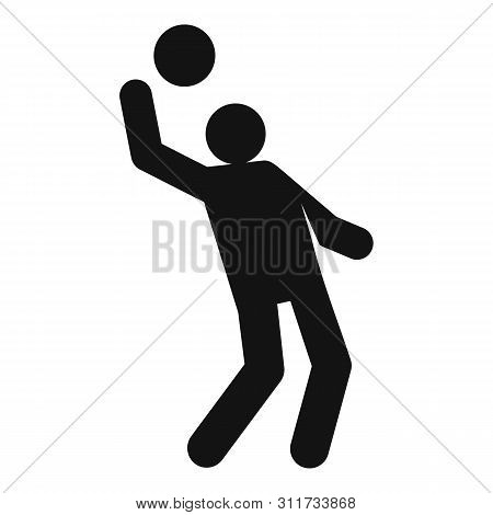 Volleyball Player Icon. Simple Illustration Of Volleyball Player Vector Icon For Web Design Isolated