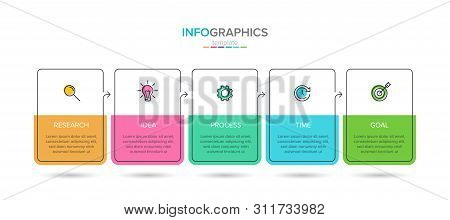 Vector Infographic Label Template With Icons. 5 Options Or Steps. Infographics For Business Concept.