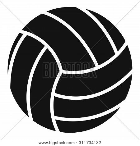 Volleyball Ball Icon. Simple Illustration Of Volleyball Ball Vector Icon For Web Design Isolated On