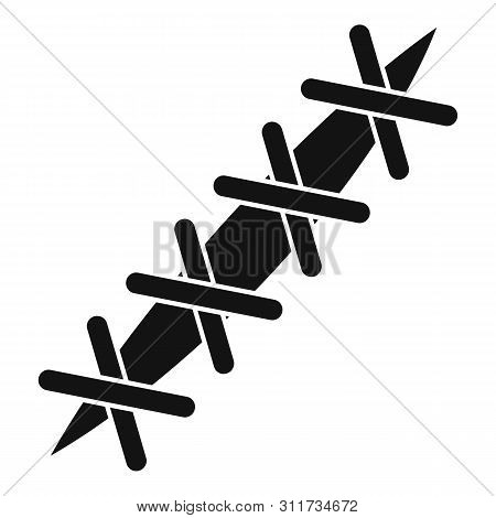 Cross Suture Icon. Simple Illustration Of Cross Suture Vector Icon For Web Design Isolated On White