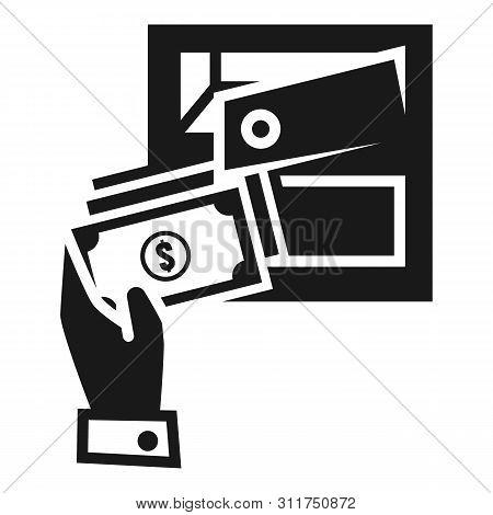 Put Money Deposit Safe Icon. Simple Illustration Of Put Money Deposit Safe Vector Icon For Web Desig