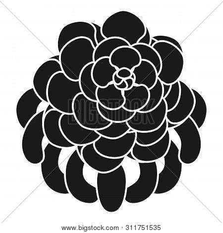 Succulent Flower Icon. Simple Illustration Of Succulent Flower Vector Icon For Web Design Isolated O