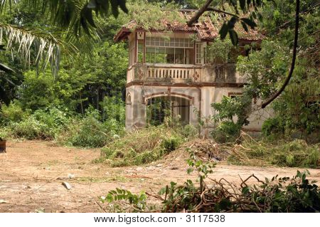 Deserted Colonial Building