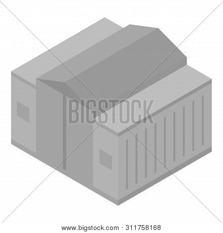 Industrial Warehouse Icon. Isometric Of Industrial Warehouse Vector Icon For Web Design Isolated On