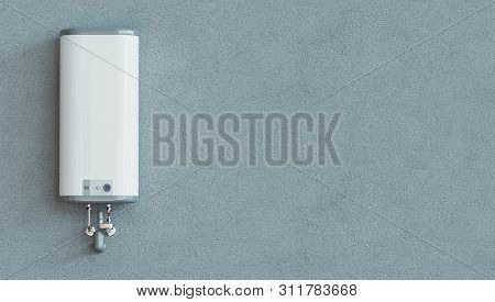 House Heating Concept, Modern Home Gas Fired Boiler, 3d Rendering