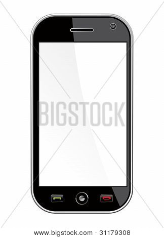 Generic Smart Phone Isolated Over White