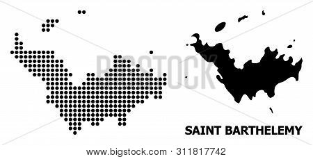 Dot Map Of Saint Barthelemy Composition And Solid Illustration. Vector Map Of Saint Barthelemy Compo