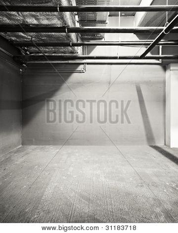Vaciar la pared del almacén, puede ser utilizado como fondo industrial