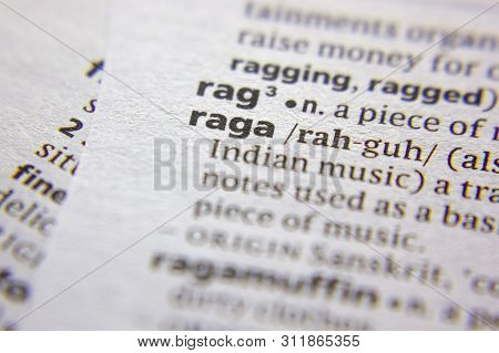 Word Or Phrase Raga In A Dictionary