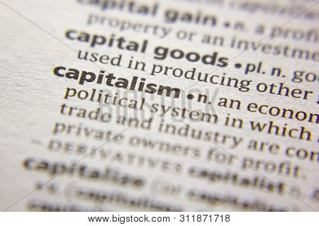 Word Or Phrase Capitalism In A Dictionary