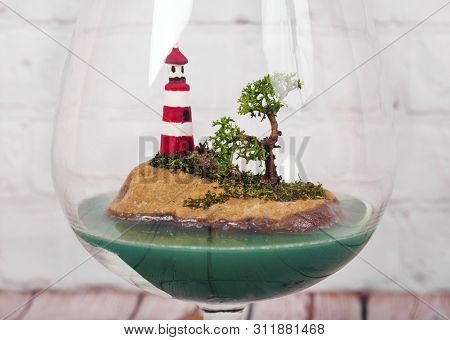 Terrarium With Sea And Beacon