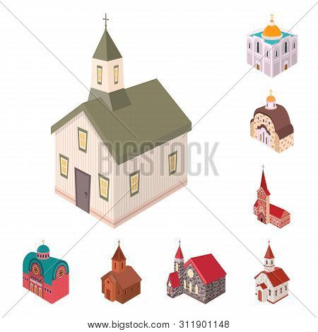 Vector Illustration Of Architecture And Building Icon. Collection Of Architecture And Clergy Vector
