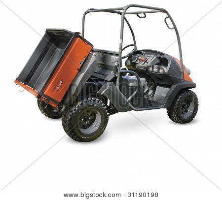All terrain vehicle on a white background. Clipping path included.