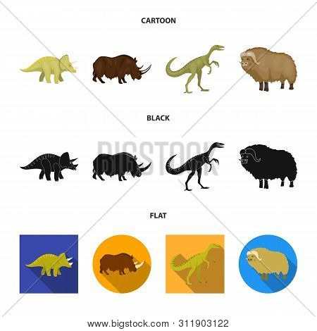 Isolated Object Of Animal And Character Symbol. Collection Of Animal And Ancient Vector Icon For Sto