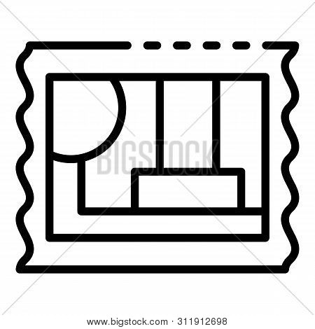 Post Timbre Icon. Outline Post Timbre Icon For Web Design Isolated On White Background