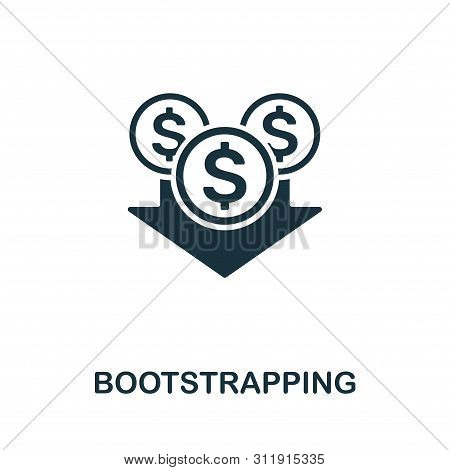 Bootstrapping Vector Icon Symbol. Creative Sign From Investment Icons Collection. Filled Flat Bootst
