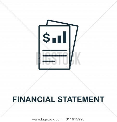 Financial Statement Icon Symbol. Creative Sign From Investment Icons Collection. Filled Flat Financi