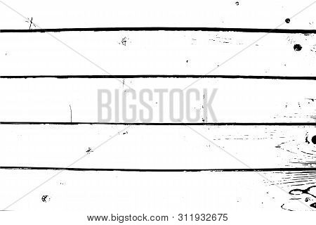 Abstract Background, Horizontal Wide Planks, Old Wooden Wall. Vector Wood Texture.