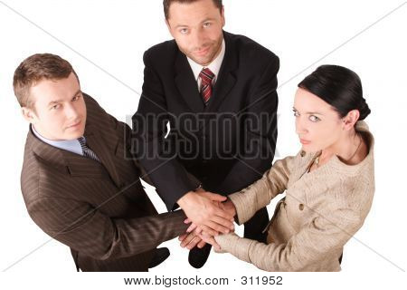 Business Team 4 -isolated