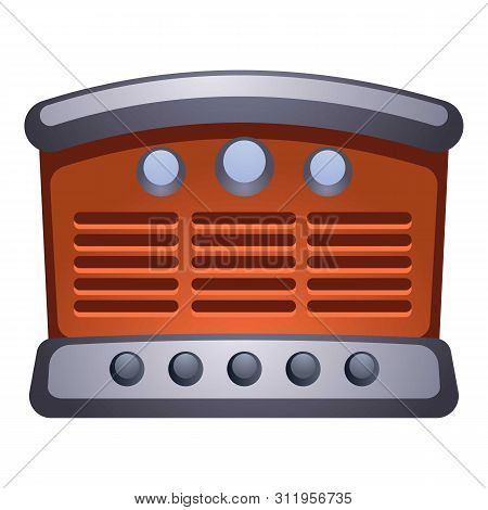 Old Retro Radio Icon. Cartoon Of Old Retro Radio Icon For Web Design Isolated On White Background