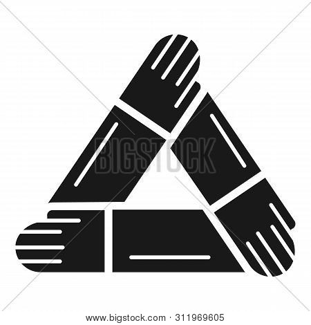 Hand people cohesion icon. Simple illustration of hand people cohesion icon for web design isolated on white background poster