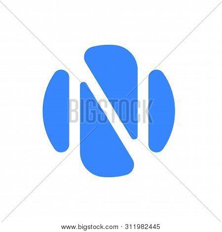 Letter N Logo, Modern Abstract Blue Liquid Graphic Design. Vector Letter N, Fluid Alphabet Font Icon