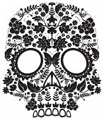 day of the dead skull poster