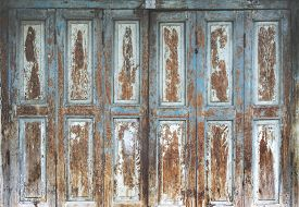 Old Wooden Door Front View And Stock Photo