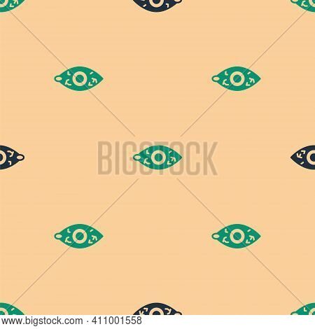 Green And Black Reddish Eye Due To Viral, Bacterial Or Allergic Conjunctivitis Icon Isolated Seamles