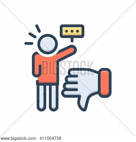 Color Illustration Icon For Critic Authority Commentator Columnist Vote Reviewer Customer Review Dis