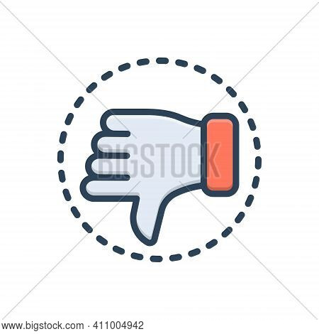 Color Illustration Icon For Critic Hatred Hate Detest Detractor Reviewer Customer Review Dislike