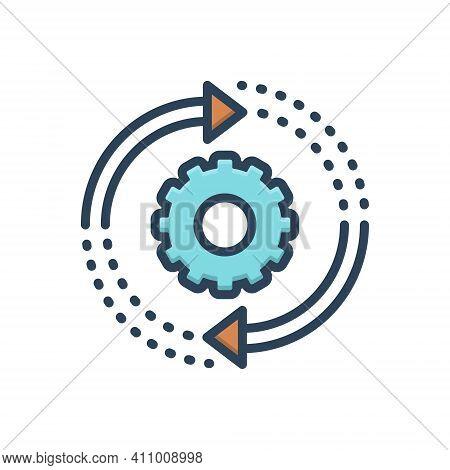 Color Illustration Icon For Transition Epidemic Transit Change Move Transformation Changeover Progre