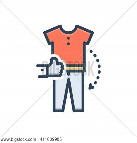 Color Illustration Icon For Combination Amalgamation Amalgam Mixture Accessories Apparel Garment Clo