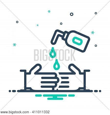 Mix Icon For Rub Wash Hygiene Prevention Sanitiser Hand-wash