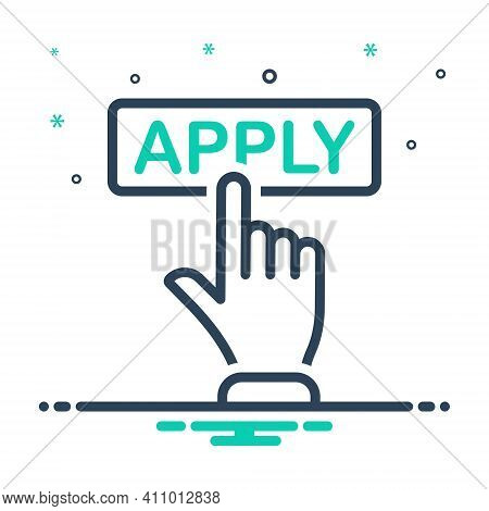 Mix Icon For Apply Registration Online Application Register Submit Subscription