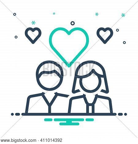 Mix Icon For Romantic Couple Heart Fall-in-love Engaged Love Emotion Dating Lovers Relationship Pert