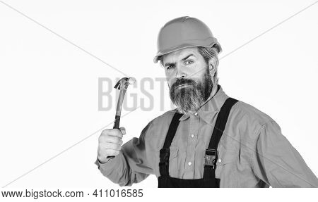 Guy With Hammer. Good Hammer. Almost Every Household Has Hammer. Estimate Materials Requirements For