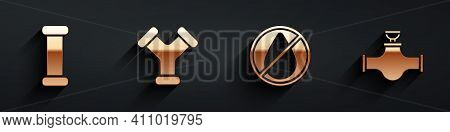 Set Industry Metallic Pipe, Industry Metallic Pipe, Water Drop Forbidden And Industry Pipe And Valve