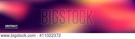 Purple Gradient Vector Background. Blurred Soft Blend Color Gradation Holographic Banner. Hologram G