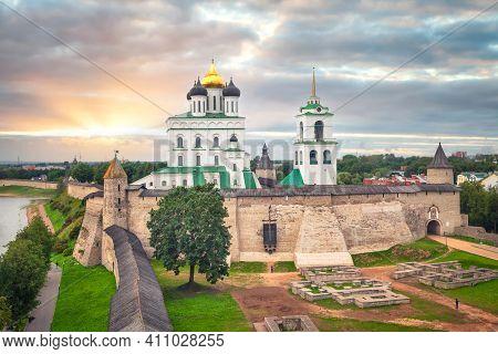 View Of Pskov Kremlin, Russia (hdr Image)
